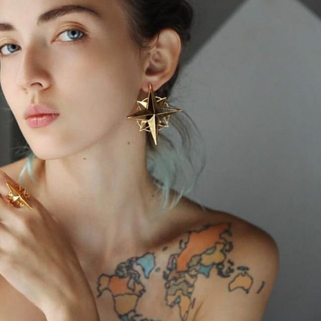 Compass WR Earrings