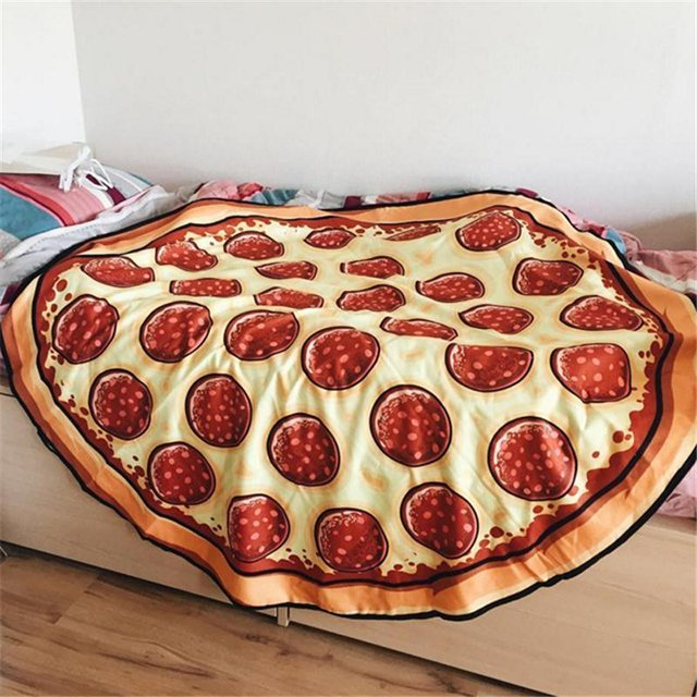 Round Pizza Beach Towel/Blanket