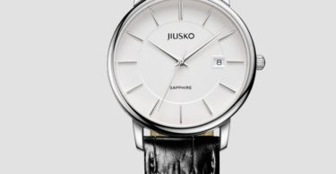 JIUSKO Swiss Quartz Analog Classic Leather Watch