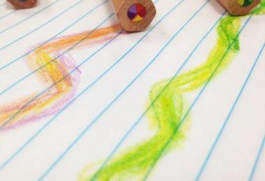 Chunky Rainbow Pencils