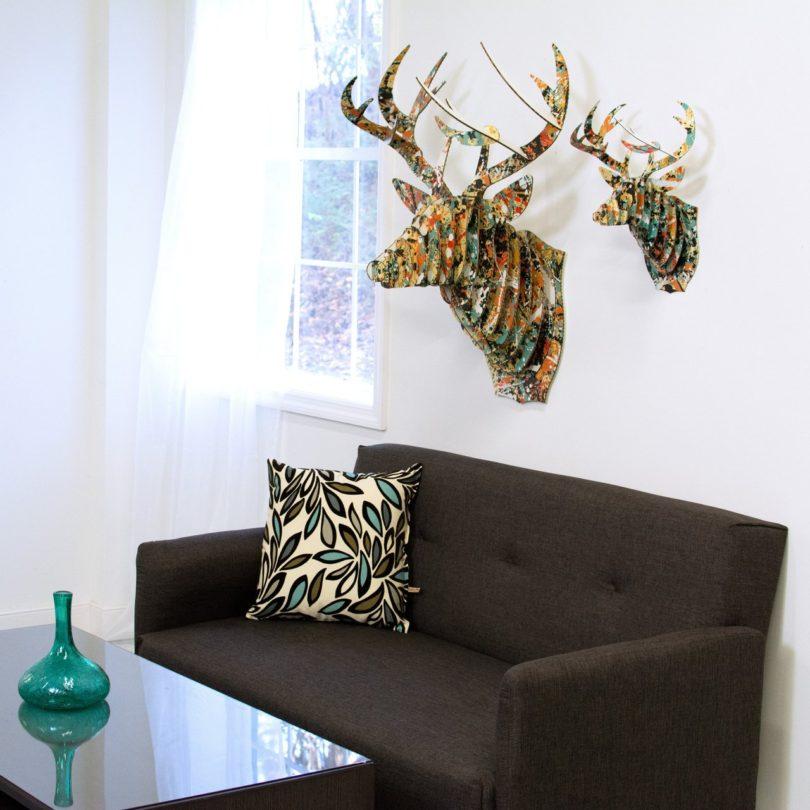 Bucky Drip Print Cardboard Deer