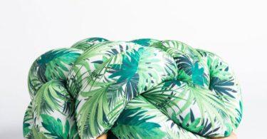 Jungle Pattern Knot Floor Cushion