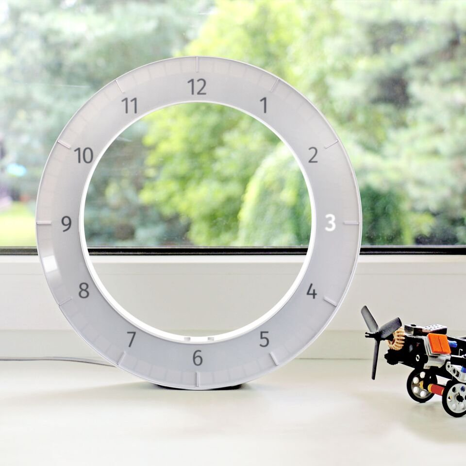 White & White Only Clock