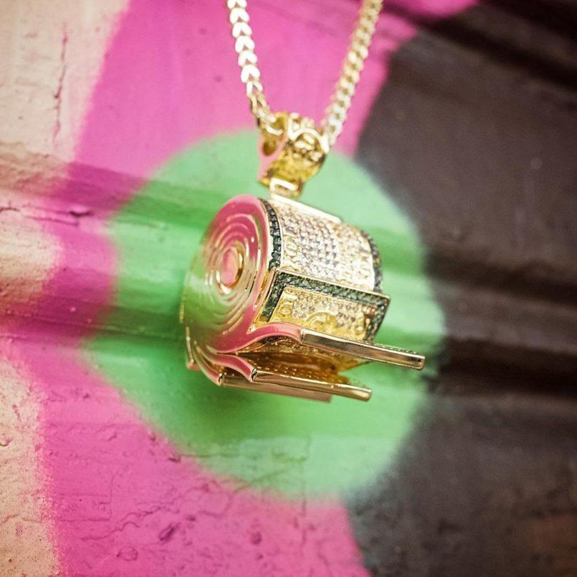 The Money Roll Necklace by Snoop Dogg x King Ice