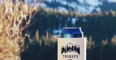 Thirsty For Adventure Foam Can Cooler by SUPERKOLDIE