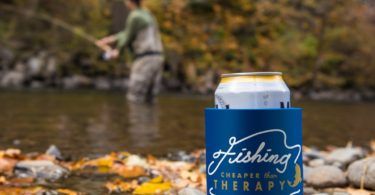 Fishing: Cheaper Than Therapy Foam Can Cooler by SUPERKOLDIE
