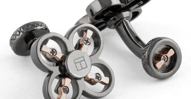 Mini Drone Gunmetal Plated Cufflinks
