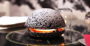 Egloo Splashed Black Edition Candle Powered Heater