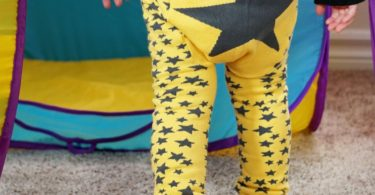 Yellow Star Legging