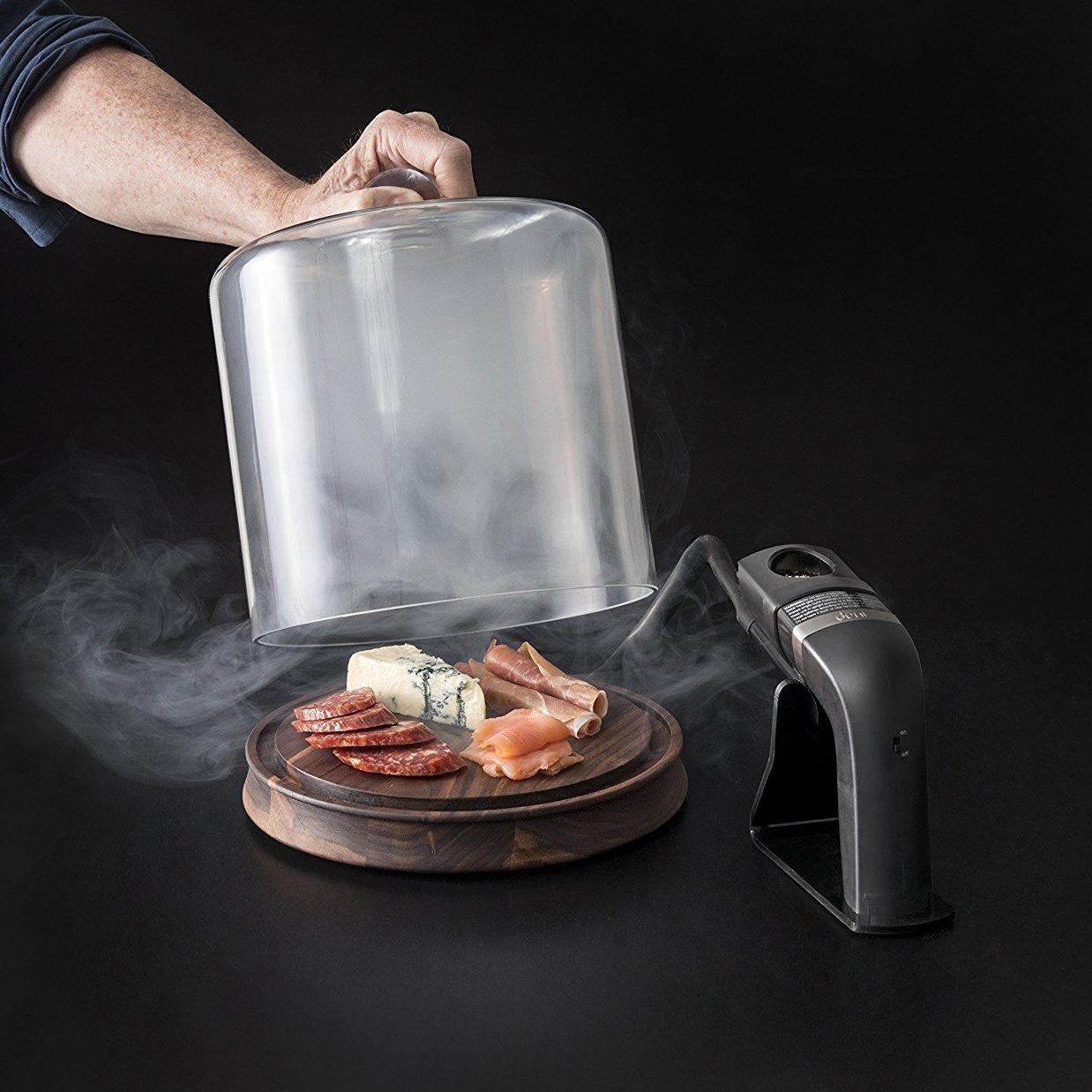 Glass Smoking Cloche with Smoke Infusing Gun