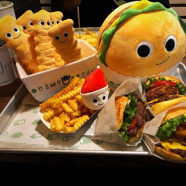 Shake Shack Plush Burger & Fries Set by Kidrobot