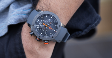 LIV GX1 Swiss Chronograph Gray IP & Gray Numbers
