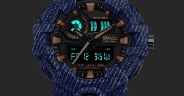 SMAEL Military Style Digital Waterproof Sports Watch