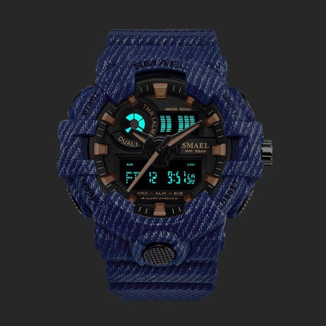 SMAEL Military Style Digital Waterproof Sports Watch