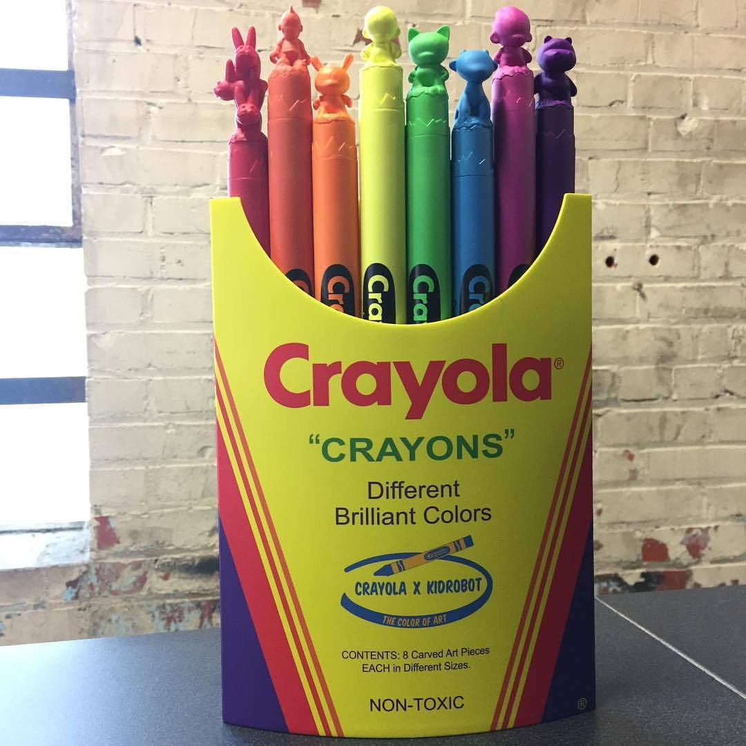 Crayola x Kidrobot Carvola Sculptures