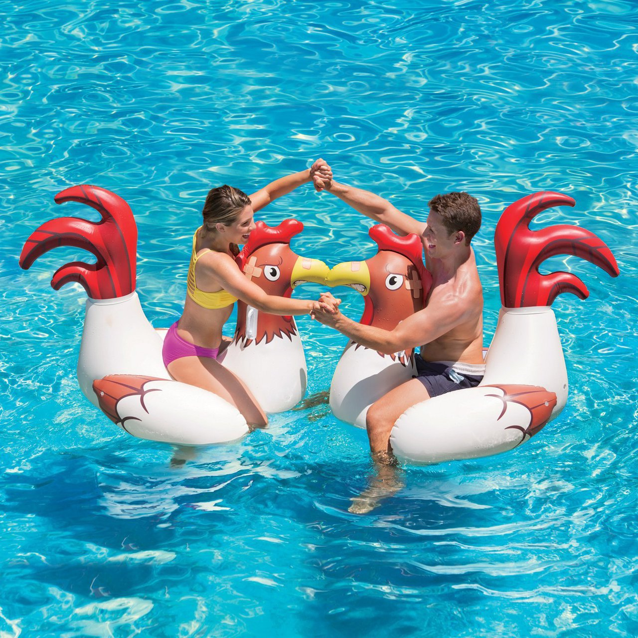 Chicken Fight Pool Floats