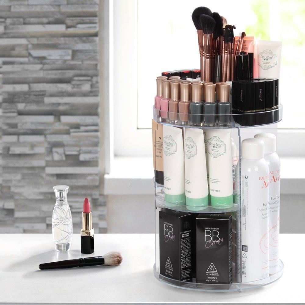 Acrylic Makeup Organizer, 360 Degree Rotating