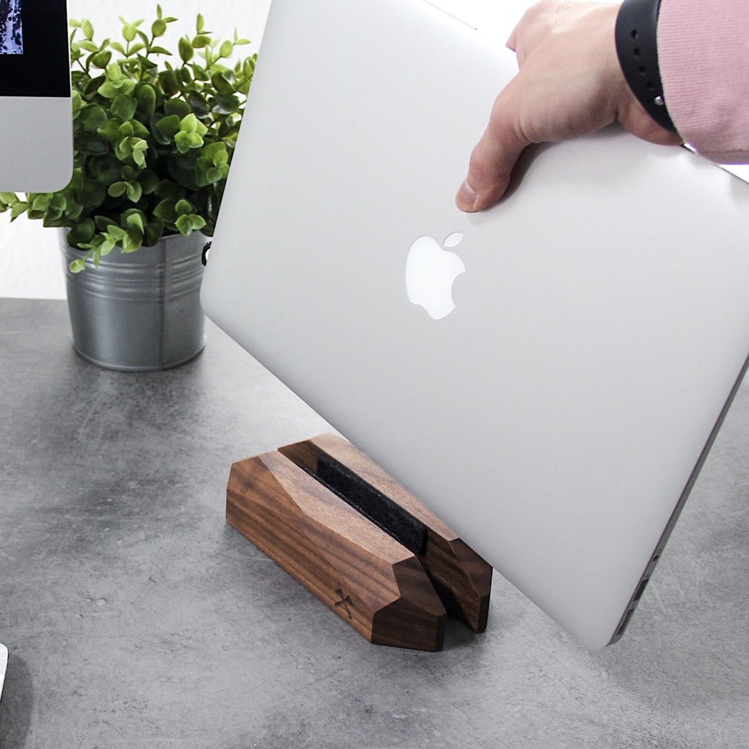Wooden MacBook Dock