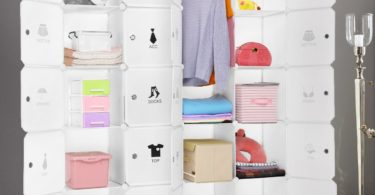 LANGRIA Cubby Shelving 20-Cube Muti-use DIY Portable Storage Drawer