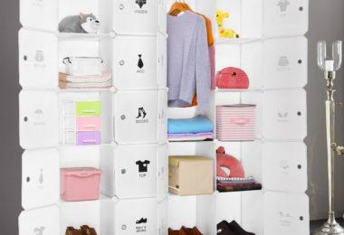 LANGRIA Cubby Shelving 20-Cube Muti-use DIY Portable Storage Drawer