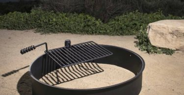 Steel Fire Ring w/ Cooking Grate Campfire Pit Camping Park Grill