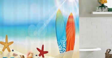 Seashells Decor Shower Curtain Set