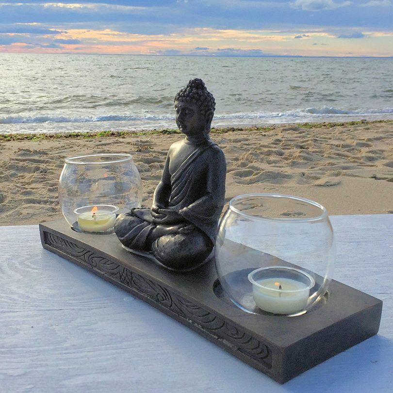 Whole House Worlds The Seated Buddha with Double Glass