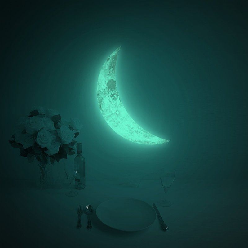 Luna Crescent Glow In The Dark Moon Sticker