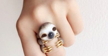 Mary Lou Grey Sloth Ring Set
