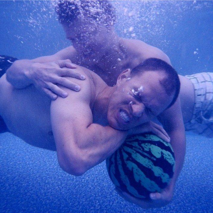 Watermelon Ball Swimming Pool Game