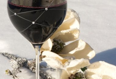 The Galaxy Spirals Wine Glasses