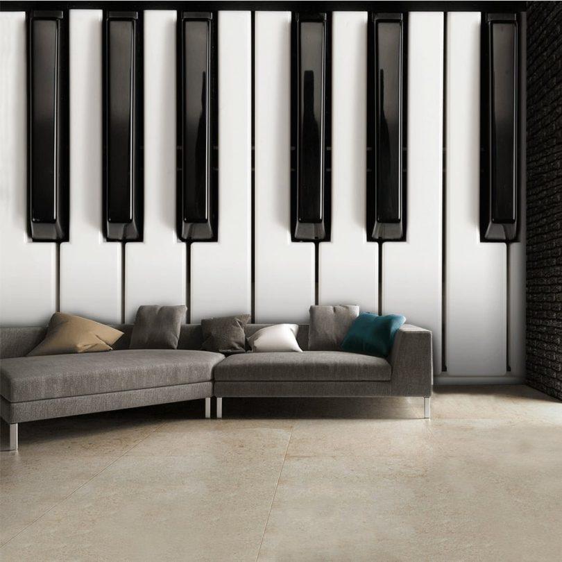 Black and White Piano Wallpaper