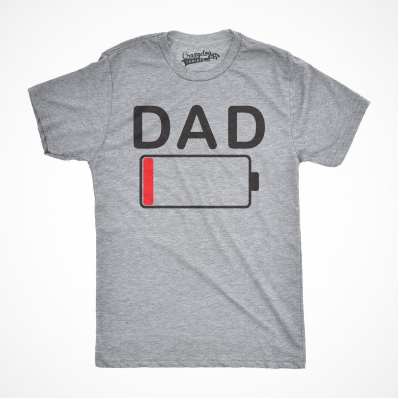 Dad Battery Low T-shirt