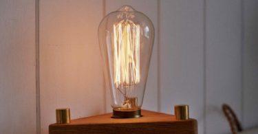 Bermuda Triangle Wood Lamp