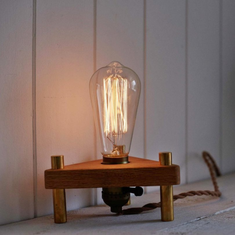 Bermuda Triangle Wood Lamp