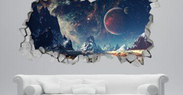 Space Broken Wall Decal