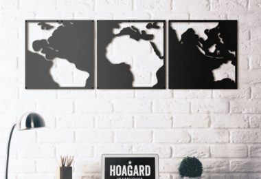 Map of Contrast Metal Wall Art