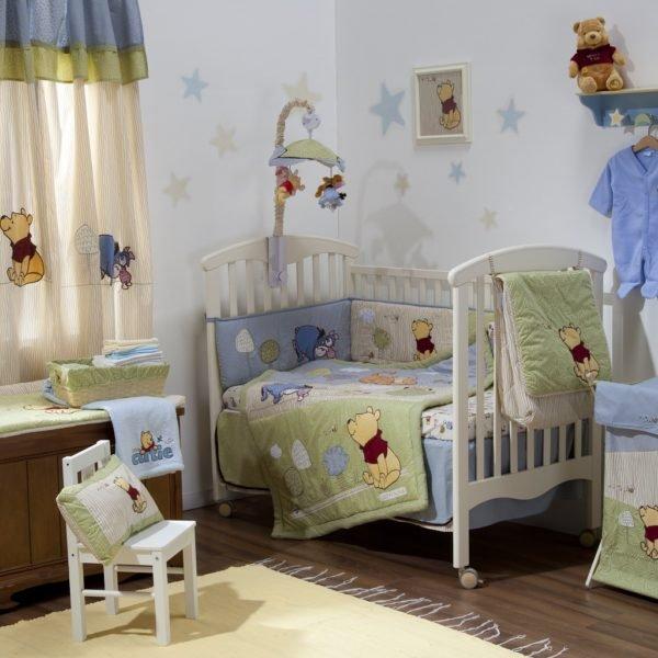 Natural Pooh Crib Bedding Set