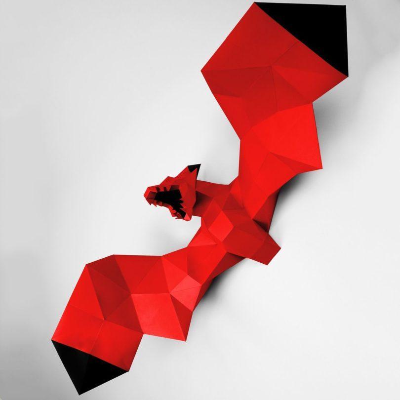 Black & Red XL Dragon Papertrophy