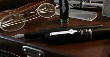 Speedometer Black Fountain Pen