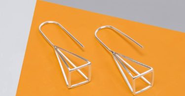 Geometric Sterling Silver Pyramid Earrings