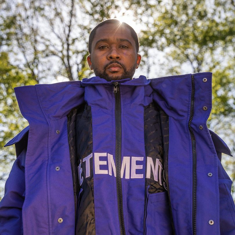 Vetements Blue Oversized Parka