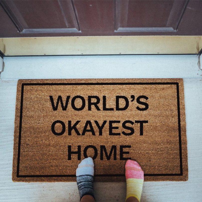 World's Okayest Home Doormat