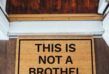 This Is Not A Brothel Doormat