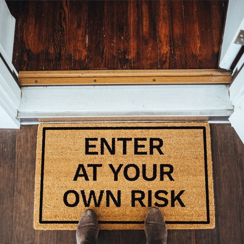 Enter At Your Own Risk Doormat