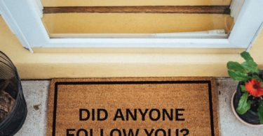 Did Anyone Follow You? Doormat