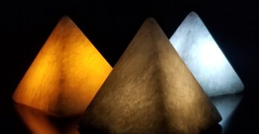 Hand Made Gypsum Ore Pyramid Mood Lighting