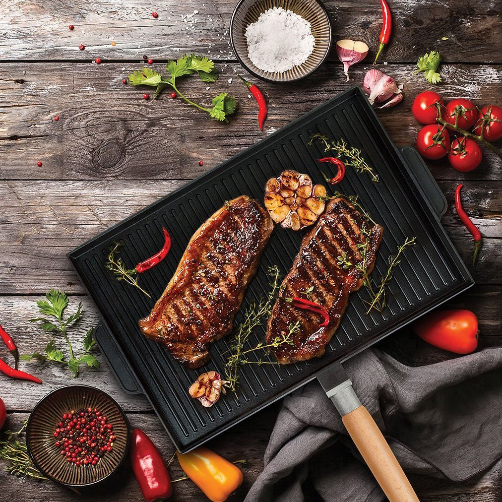 MasterPan Double Sided Grill and Griddle