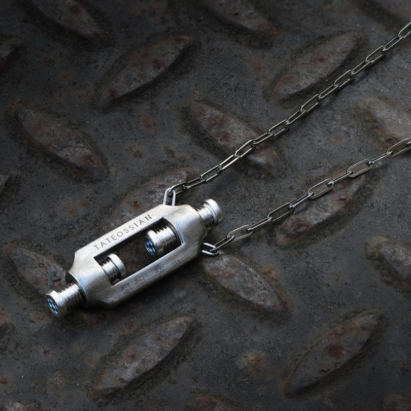 Double Bolt Silver Necklace