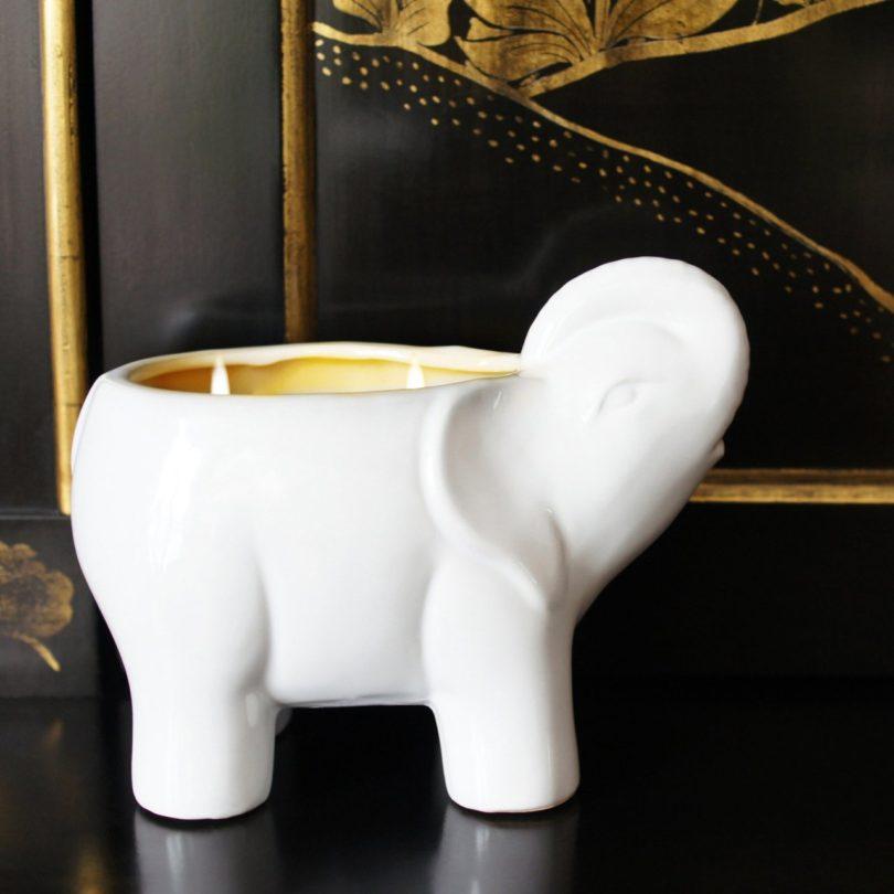 Elephant Lotus & Lily White Candle